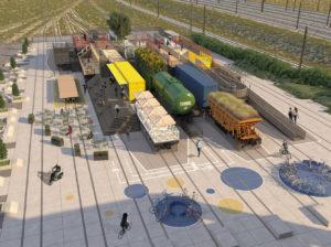 Copenaghen: un deposito ferroviario abbandonato viene convertito in parco giochi