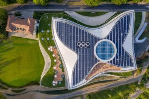 Svizzera: il quartier generale olimpico emula i movimenti di un atleta