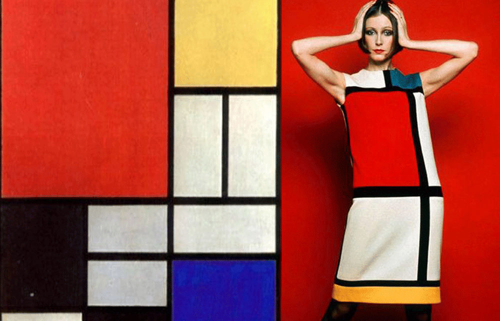 Piet Mondrian Composition with red, yellow and blue, 1927 / Yves Saint Laurent The Mondrian Collection, 1965
