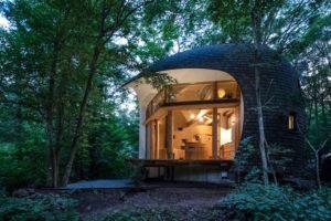 Giappone: una casa organica in legno si fonde con la foresta circostante